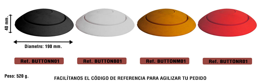 Medidas separador vial Button